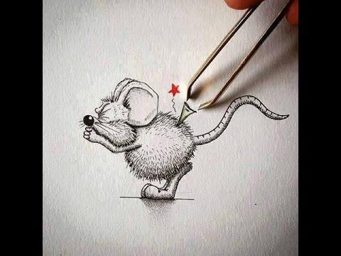 Vẽ chì nghệ thuật với chú chuột
