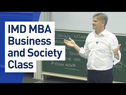 IMD MBA - Business and Society Class with Prof. Knut Haanaes