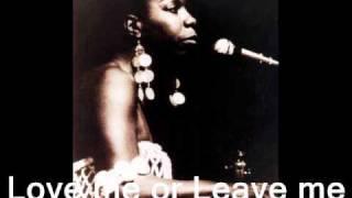 Скачать Love Me Or Leave Me Nina Simone