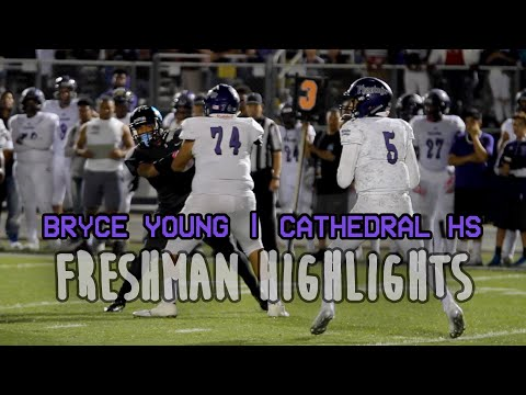 LIKE A YOUNG MICHAEL VICK!!! Bryce Young 2020 Freshman QB Varsity Highlights (Cathedral)