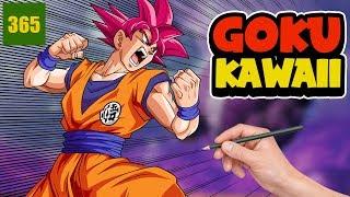 COMMENT DESSINER GOKU SSJ DIEU KAWAII - dessins faciles de kawaii - Dragon Ball Super Kawaii