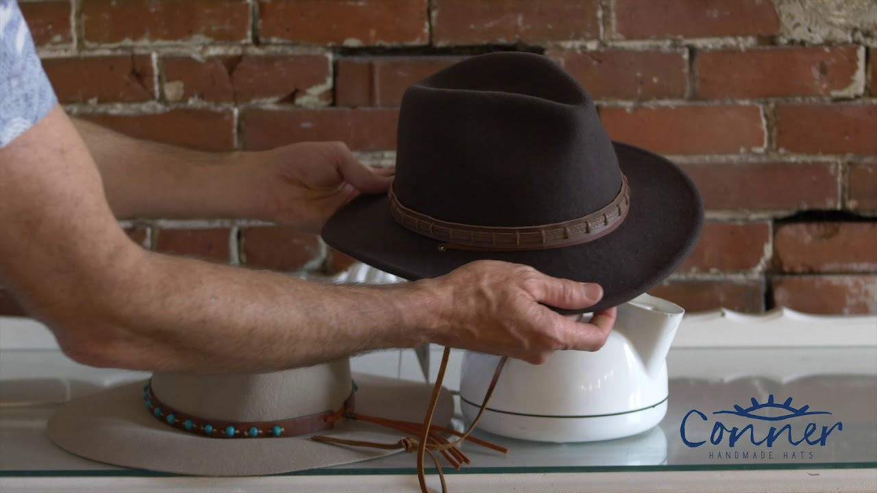 How To Steam And Reshape A Felt Hat Youtube