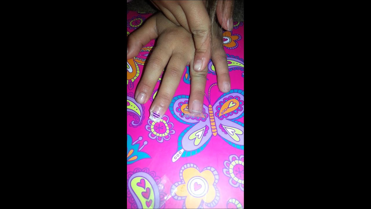 How to make Fake Nails out of Tape! Tillys way!! - YouTube