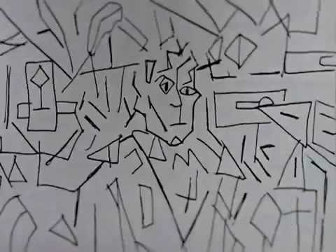 Cubist Animation from Winnie the Pooh to cubist portrait of Wilhem Uhde.