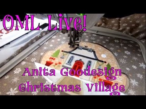 AnitaGoodesign Christmas Village Machine Embroidery Designs+Applique