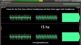 Hearing Test Sounds at 6 - 15 - 20 hz
