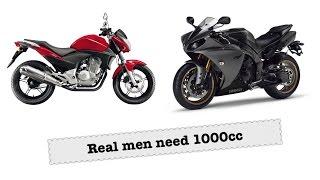 Real Men ride liter bikes? 1000cc vs everything else