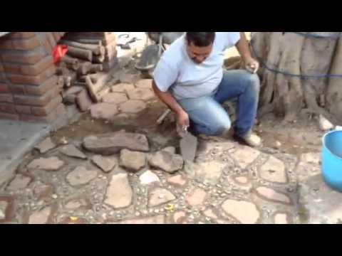 Constru luis piso de laja youtube - Lajas de piedra ...