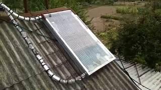 Самодельный солнечный коллектор из стальных трубок // Hand made solar collector by steel tube