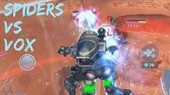 Spider Army vs VOX Hellburner Squad - War Robots