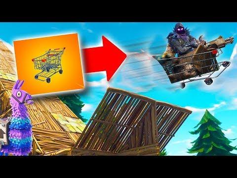 MEGA RAMP!!*SHOPPING CART STUNT!* | Fortnite MOBILE Gameplay