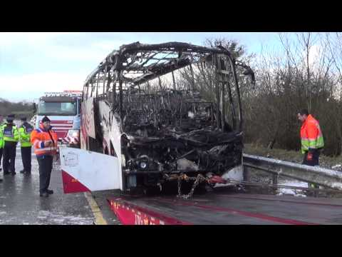 Bus Éireann bus gutted in fire
