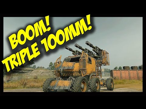 ► Crossout - Triple 100mm Cannon Build - 3 x 100mm Cannon + Apollo Generator