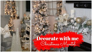 DECORATE WITH ME || GLAM  CHRISTMAS MANTEL DECOR 2019
