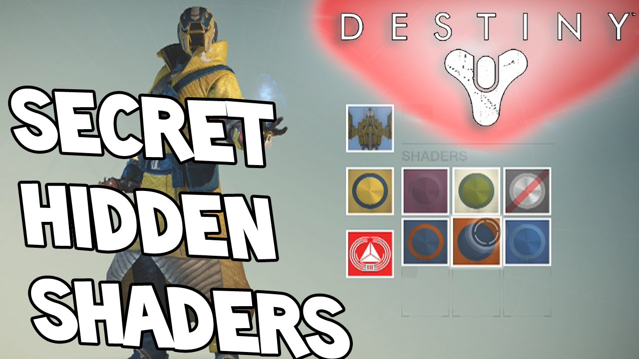 Destiny secret hidden shaders amp emblems legendary youtube