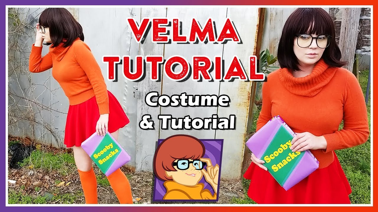Velma Dinkley (Scooby-Doo) Cosplay Costume + Makeup Tutorial - YouTube 80bcb5baff467