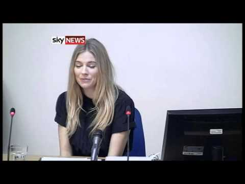 Leveson Inquiry: Sienna Miller - The Packs Of Paparazzi Were 'Terrifying'