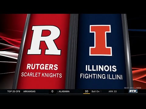 Rutgers at Illinois - Football Highlights