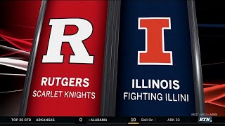 Rutgers at Illinois - Football Highlights