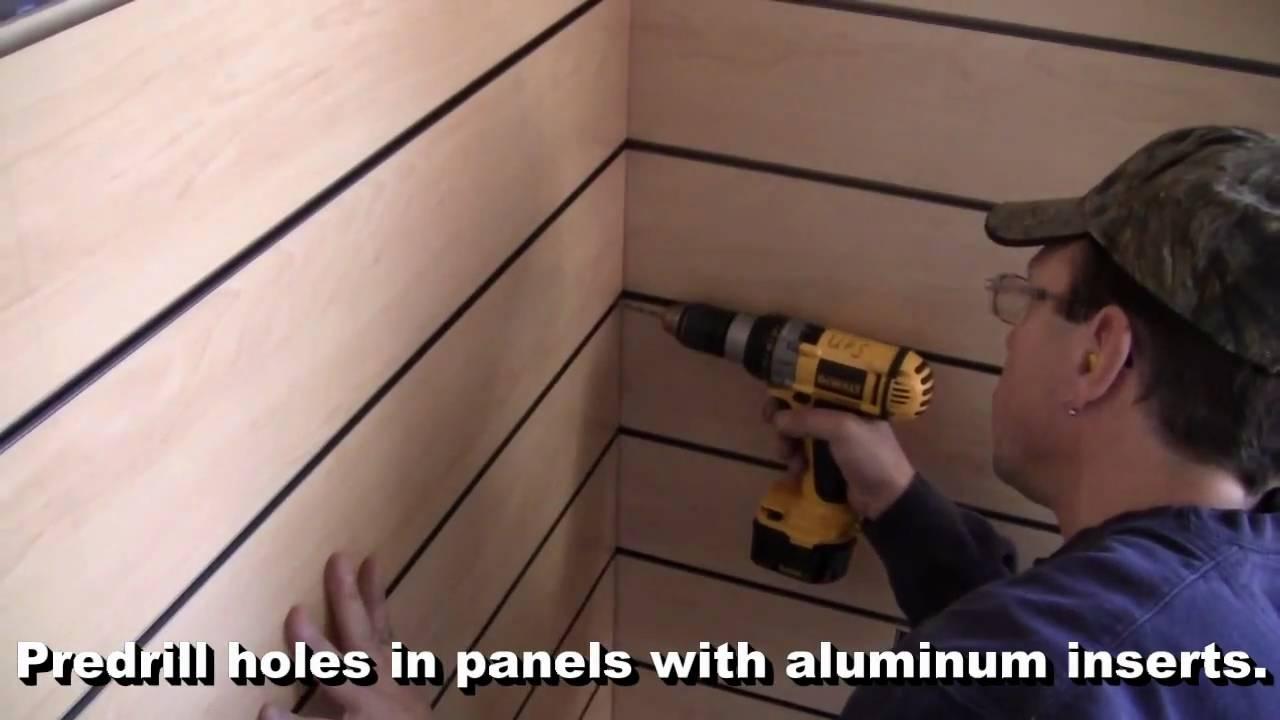 Installing Slatwall Display Panels With Aluminum Inserts