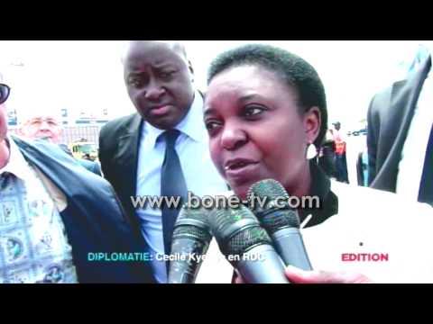 Mme Cécile Kyenge, Ministre Italienne d'origine Congolaise en visite au Congo