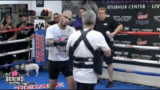 WHOA! Miguel Cotto Crushes The Pads With Freddy Roach at LA Workout