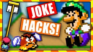 Super Mario World Joke Hacks! - April Fools Rom Hacks - BTG