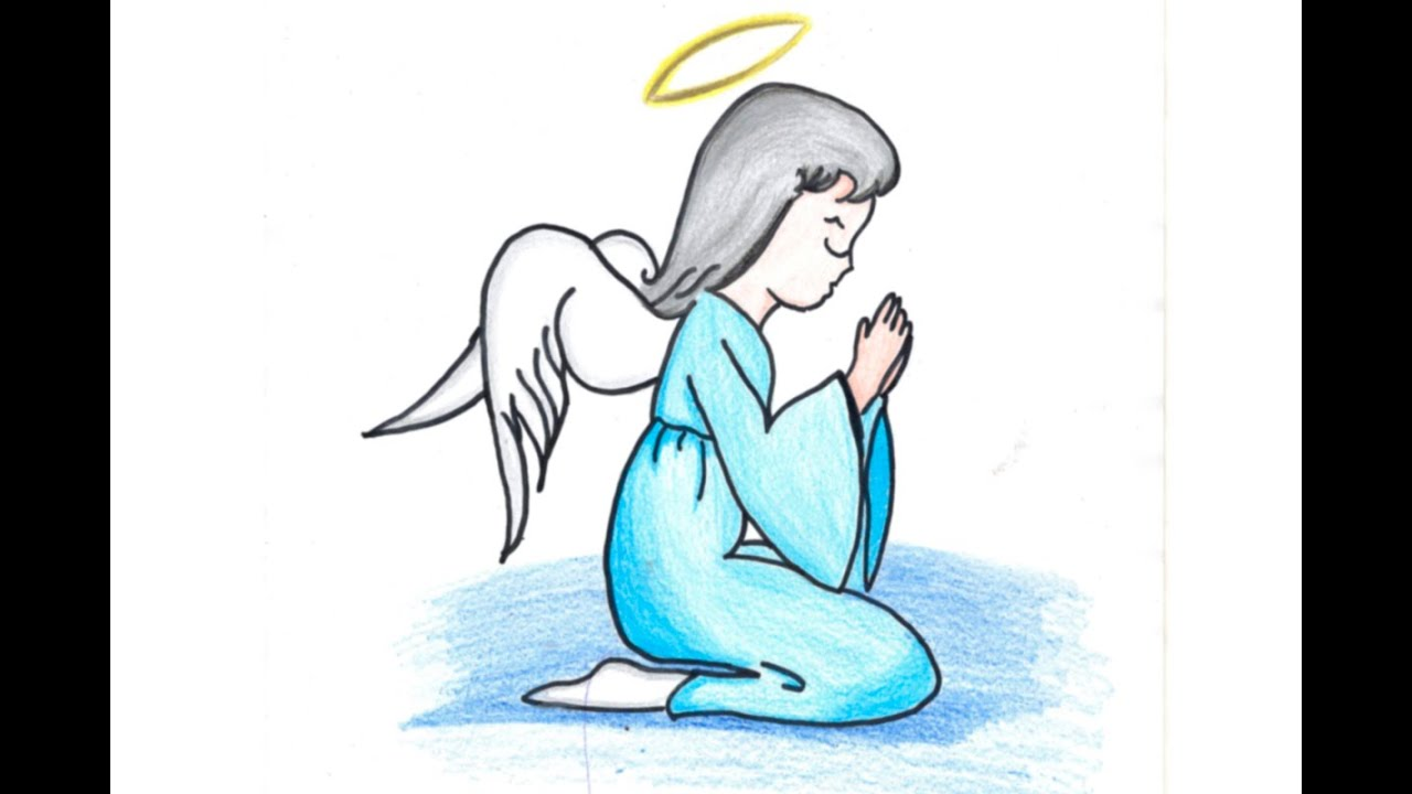 drawing angel dibujando un angel simple l93xd youtube
