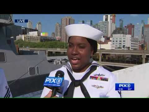 Parade of ships arrive in NY for Fleet Week