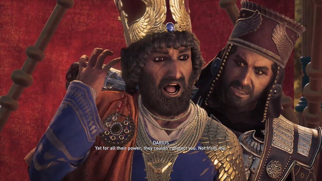 Assassin S Creed Odyssey Darius Killing King Xerxes Youtube