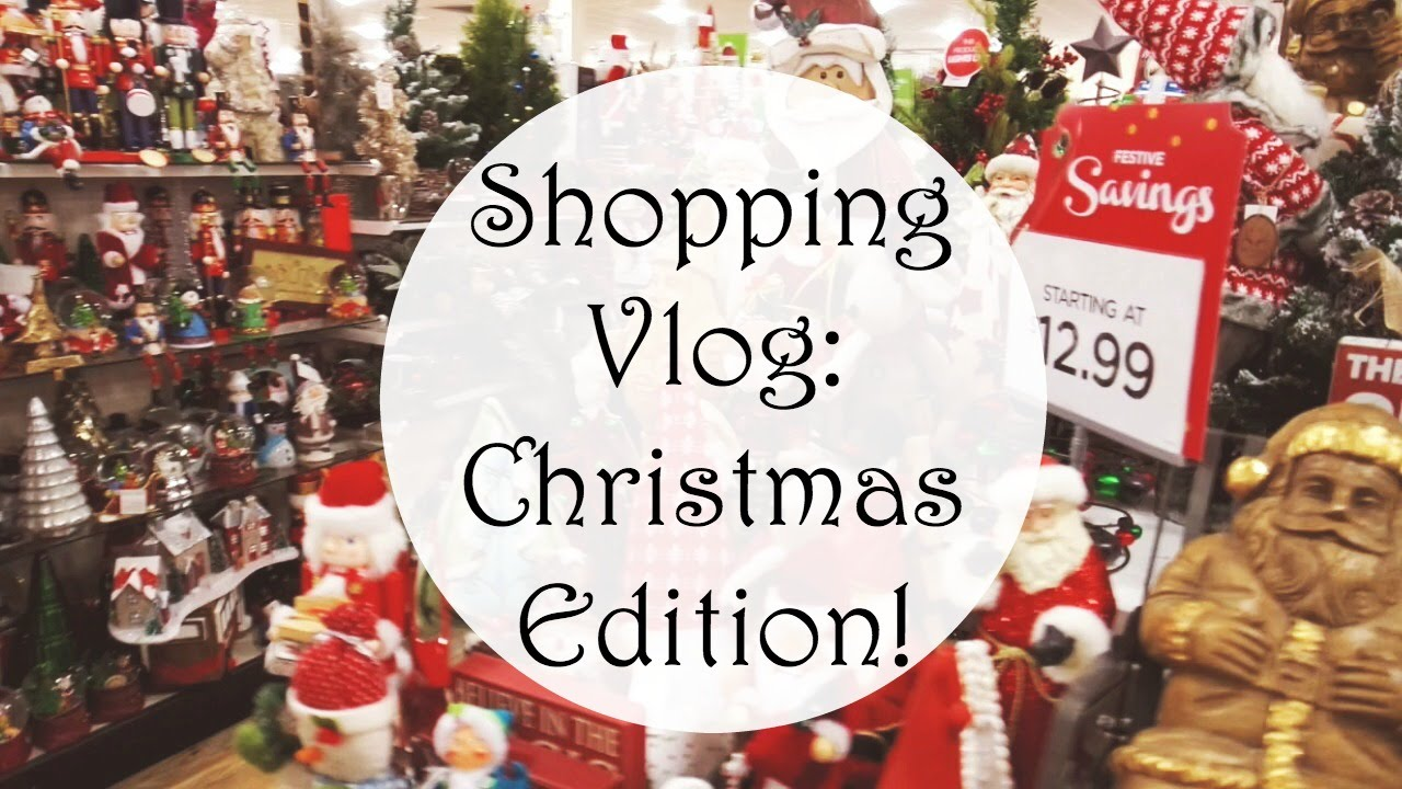 shopping vlog christmas decorations homegoods tj maxx marshalls