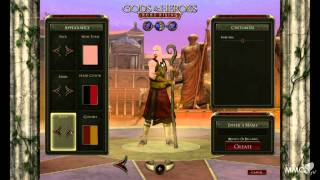 Gods & Heroes: Rome rising Character creation - MMO HD TV (1080p)