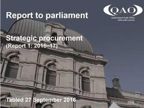 Strategic procurement (Report 1: 2016–17)