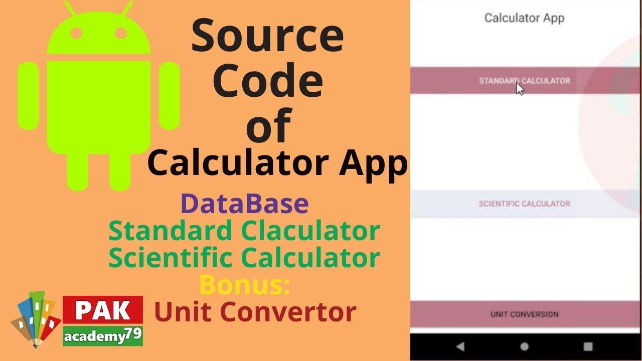 Android Studio Tutorial: Calculator (Multi Purpose) with source code