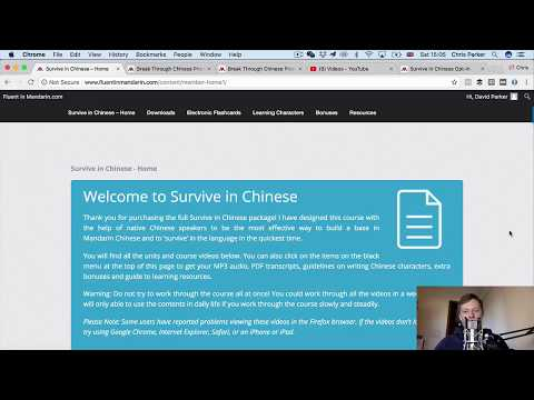 How to Survive in Mandarin Chinese! (course demo)