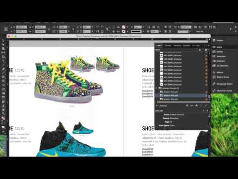 InDesign Demo: Shoe Catalog Placement/Layout Design