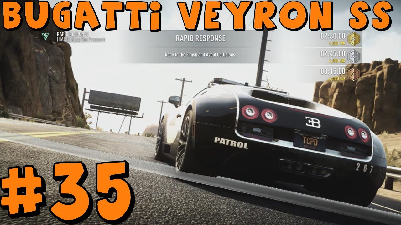 need for speed rivals xbox one part 35 bugatti veyron ss patrol car youtube. Black Bedroom Furniture Sets. Home Design Ideas