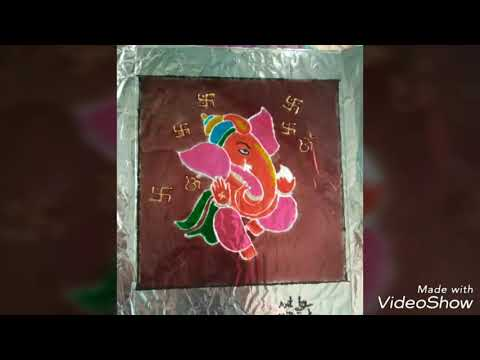 Glass painting picture