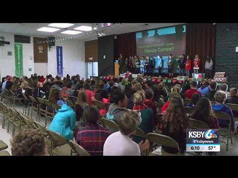 Sixth graders at Los Osos Middle School learn about making good decisions through GREAT program