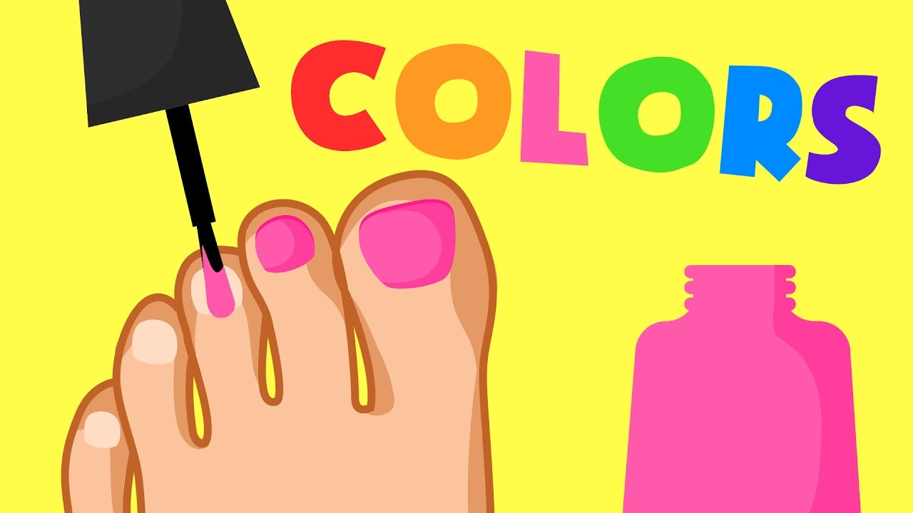 learn colors painting toes fun