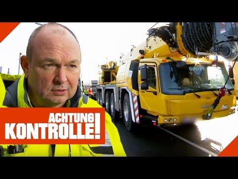 Verkehrsunfall mit Kran: Polizei ermittelt Unfallverursacher! | Achtung Kontrolle | kabel eins
