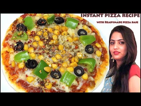 Instant pizza recipe with Readymade pizza base