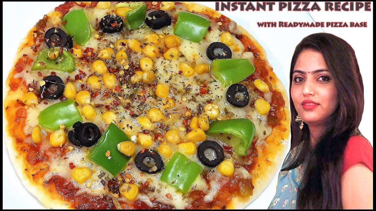 Pizza Recipe Instant Pizza Recipe With Readymade Pizza Base By Manisha Youtube