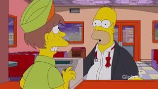 No real food at Krusty Burger Video