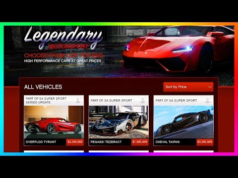 GTA Online SA Super Sport Series DLC Update SPENDING SPREE - Buying All NEW Cars, Vehicles & MORE!