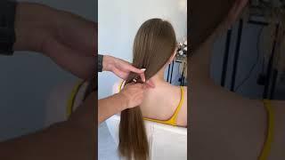 Низкий пучок Быстрая Прическа Укладка за 5 минут Стильный пучок из волос Лайфхак для девушек