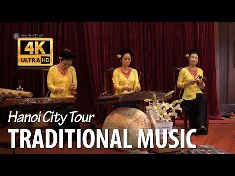 Vietnamese Traditional Music and Musical Instruments - Dan T'rung(made from bamboo), Dan Bau