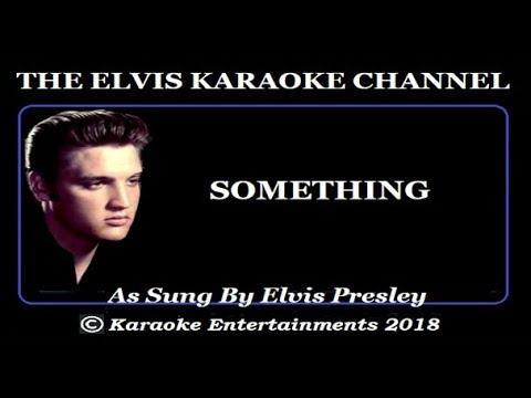 Elvis Presley Karaoke Something Aloha Concert Version
