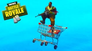 SHOPPING CART MAYHEM! - Fortnite with The Crew!