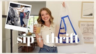 Sip + Thrift  Hunting for the BEST Pieces at Goodwill!